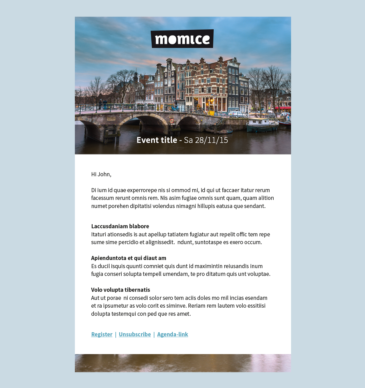 Structure your event email