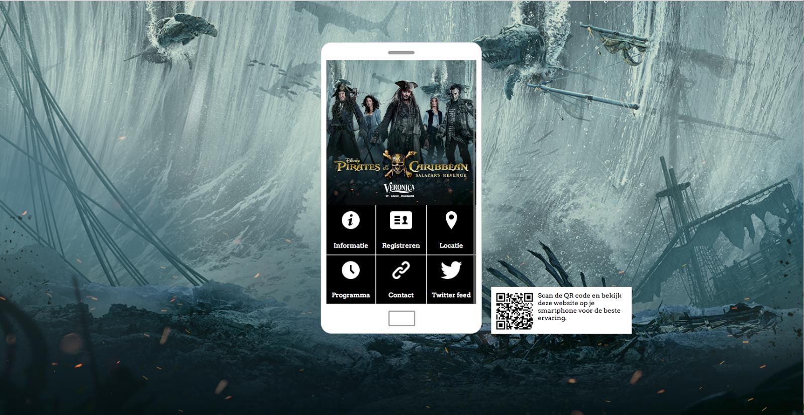 The event website design for SBS