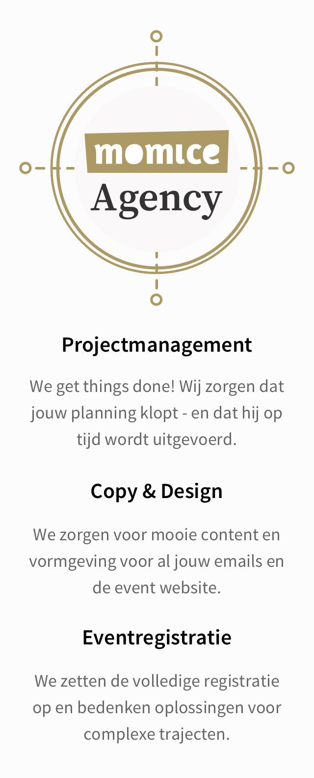 Momice Agency kan je helpen met projectmanagement