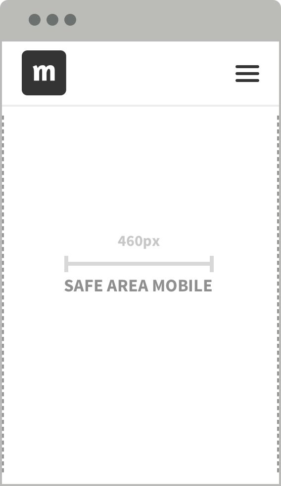 Make sure the elements are place in safe area mobile