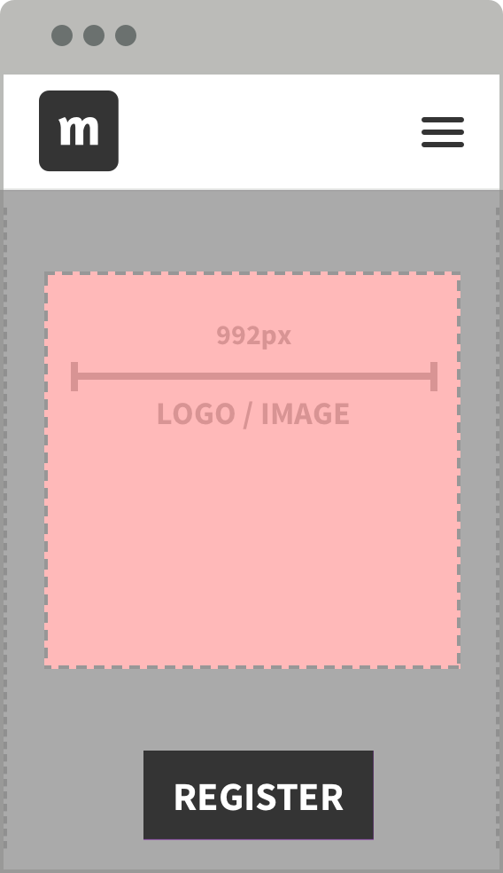 Keep the image sharp by using the correct sizes