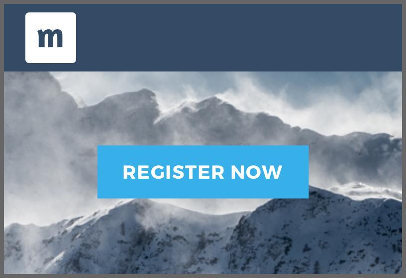 Event website template Arctic