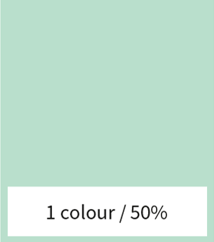 1 color with 50% gradient