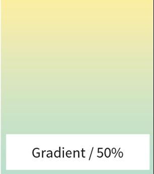 gradient on 50%