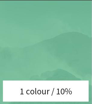 Een afbeelding met een kleurverloop van 10%