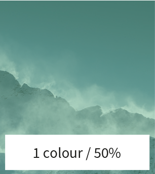 place a color filter over the image 50%