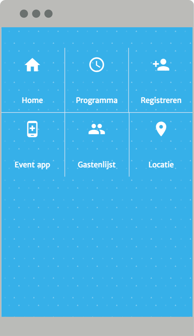 Event web app menu zonder logo