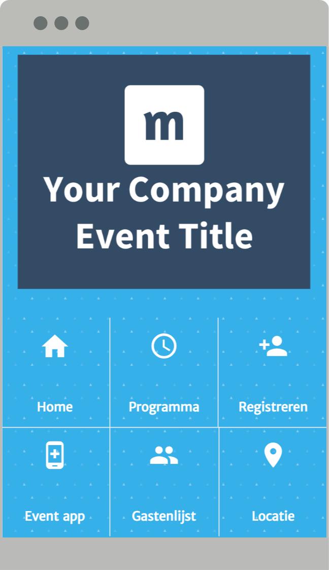 Een overzichtelijk menu voor je evenementen app