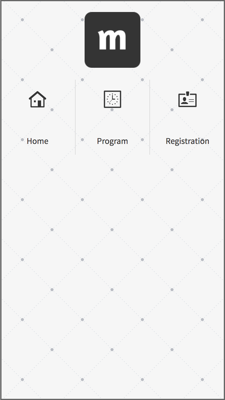 Custom menu grid with icons