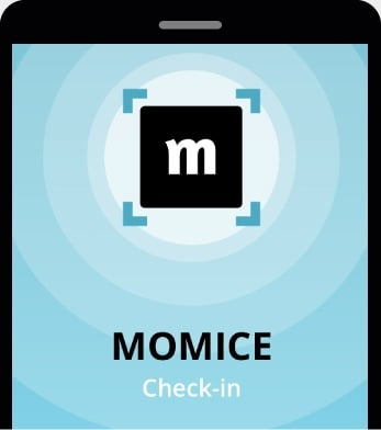 Scan the e-tickets of your attendees with the Momice Check-in app